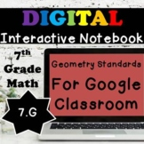 7.G Interactive Notebook, 7th Grade Geometry Digital Notebook
