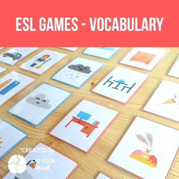 7 Games for ESL students - Learn vocabulary with memory, happy families, domino!