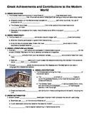 UNIT 2 LESSON 2. Greek Achievements GUIDED NOTES