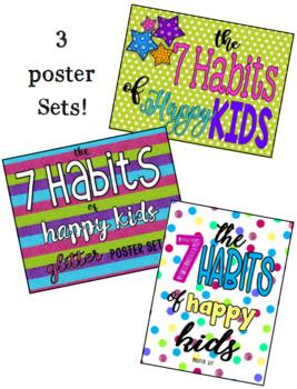 7 Habits 3 SETS OF POSTERS BUNDLE