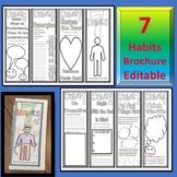 7 Habits Brochure Coloring Page- Leader in Me - Editable