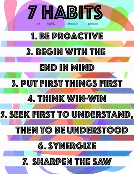 7 Habits Printable