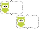 Editable Owl Tags