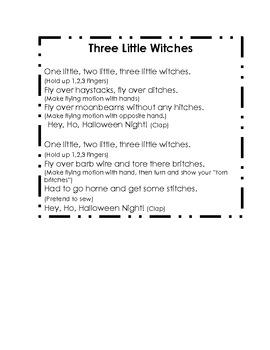 7 Halloween Songs (lyrics and actions)
