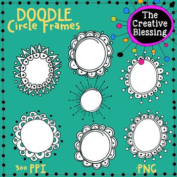 7 Hand Drawn Circle Frames  Graphics
