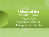 7 Ideals (Principles) of the Constitution Power Point and Manipulative Exercise