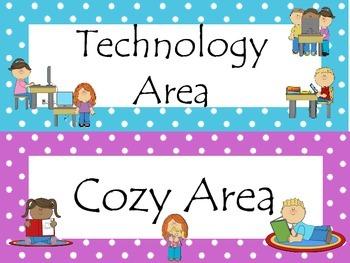7 Learning Center Signs #2. Preschool, Pre-K, Kindergarten