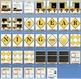 7 Learning Zones Bulletin Board Set
