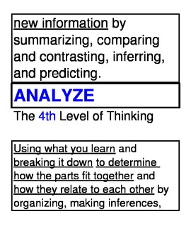 7 Levels of Thinking Charts