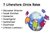 7 Literature Circle Roles - Organizers for Immediate Student Use!
