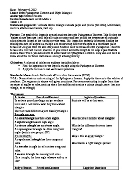 7 Math- Geometry Unit Plan