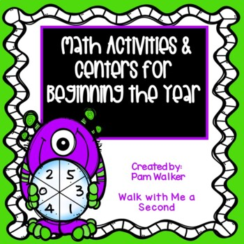 Back to School Math Workstations for 1 and 2 Digit Numbers