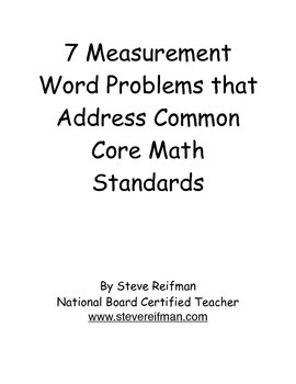 7 Measurement Word Problems that Address Common Core Math Standards