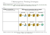 7 Metacognitive Thinking Strategies Primary Graphic Organizers