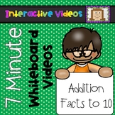 7 Minute Whiteboard Videos - Addition to Ten