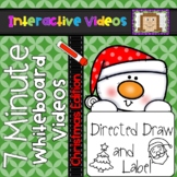 7 Minute Whiteboard Videos - Christmas Directed Drawing an
