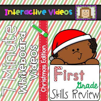 7 Minute Whiteboard Videos - Christmas First Grade Review