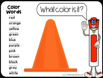 7 Minute Whiteboard Videos - Color Words