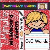 7 Minute Whiteboard Videos - CvC Words