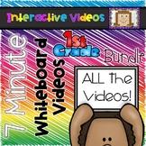 7 Minute Whiteboard Videos - FIRST GRADE Bundle