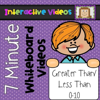 7 Minute Whiteboard Videos - Greater Than, Less Than, Equal To 0-10