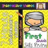 7 Minute Whiteboard Videos - Halloween First Grade Review