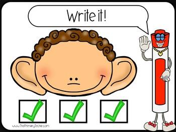 7 Minute Whiteboard Videos - Hear it! Write it! Sentences - Set 1