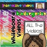7 Minute Whiteboard Videos - KINDERGARTEN Bundle