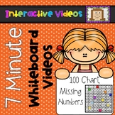 7 Minute Whiteboard Videos - Missing Numbers on a 100 Chart