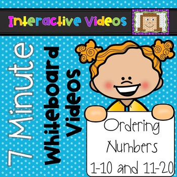 7 Minute Whiteboard Videos - Ordering Numbers 1-10 and 11-20