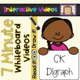 7 Minute Whiteboard Videos - READ IT!  DRAW IT!  CK Digraph