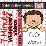 7 Minute Whiteboard Videos - READ IT!  DRAW IT!  CvCe Words
