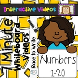 7 Minute Whiteboard Videos - Race to Write Numbers 1-20