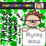 7 Minute Whiteboard Videos - Rhyming Words