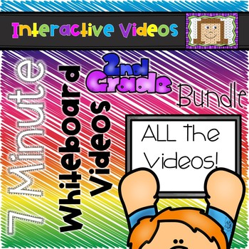7 Minute Whiteboard Videos - SECOND GRADE Bundle