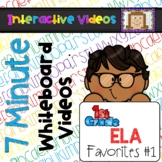 7 Minute Whiteboard Videos - FIRST GRADE Reading Bundle