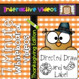 7 Minute Whiteboard Videos - Thanksgiving Directed Drawing