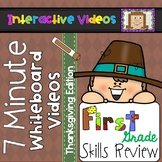 7 Minute Whiteboard Videos - Thanksgiving First Grade Review