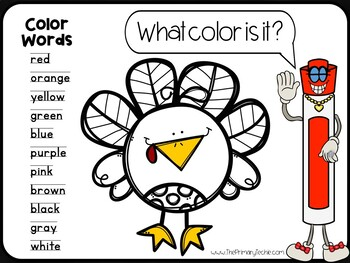 7 Minute Whiteboard Videos - Thanksgiving Kindergarten Review