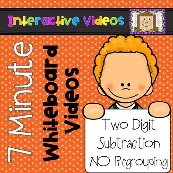 7 Minute Whiteboard Videos - Two Digit Subtraction NO Regrouping