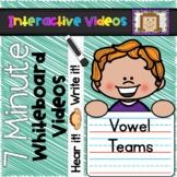 7 Minute Whiteboard Videos - Vowel Teams