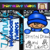 7 Minute Whiteboard Videos - Winter Directed Drawing and Labeling