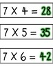 7 Multiples Times Table