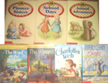 7 NEW BOOKS PIONEERS LITTLE HOUSE ON THE PRAIRIE+WIZARD OF OZ+CHARLOTTES WEB