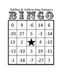 7.NS.1 Bingo - Adding & Subtracting Integers