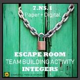 ⭐NO PREP Adding & Subtracting Integers Escape Room⭐ 7.NS.1