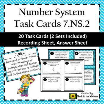 7.NS.2 Task Cards, 7th Grade Math Number System Task Cards