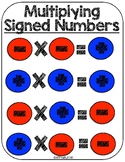 7.NS. 2a Rules for Multiplying and Dividing Signed Numbers