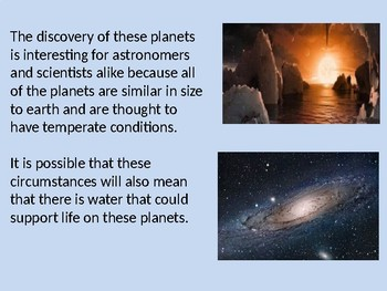 7 New Planets Discovered - Power Point - TRAPPIST facts information pictures