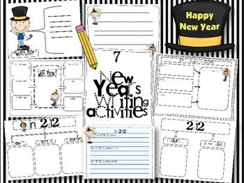 7 New Year's Writing activities